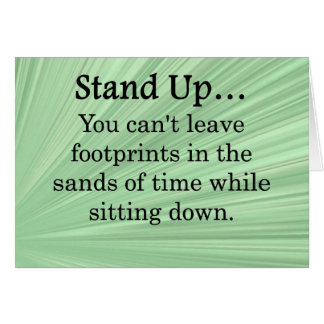 Stand Up and Take Action Card