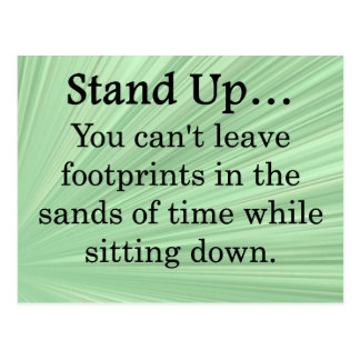 Stand Up and Take Action Postcard