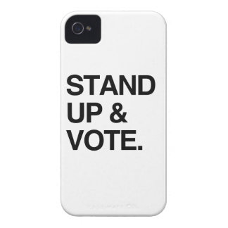 STAND UP AND VOTE iPhone 4 Case-Mate CASES