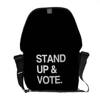 STAND UP AND VOTE MESSENGER BAGS
