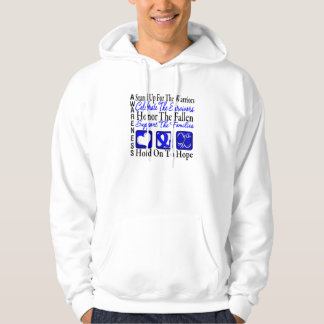 Stand Up Celebrate Honor Collage Anal Cancer Pullover