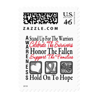 Stand Up Celebrate Honor Collage Brain Cancer Stamps