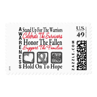 Stand Up Celebrate Honor Collage Brain Cancer Stamp