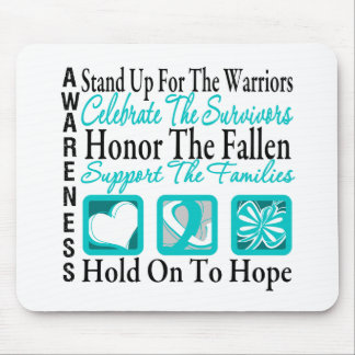 Stand Up Celebrate Honor Collage Cervical Cancer Mouse Pads