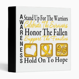 Stand Up Celebrate Honor Collage Childhood Cancer Binders
