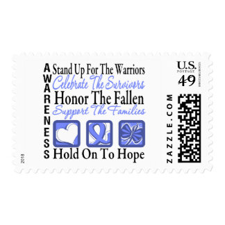 Stand Up Celebrate Honor Collage Esophageal Cancer Postage Stamps
