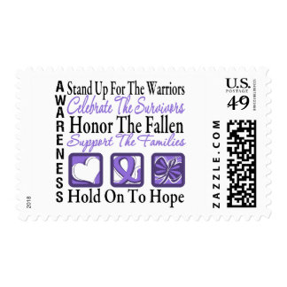 Stand Up Celebrate Honor Collage Hodgkins Lymphoma Postage Stamps