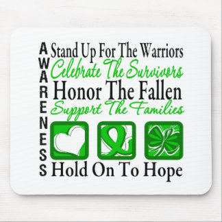 Stand Up Celebrate Honor Collage Kidney Cancer Mouse Pad