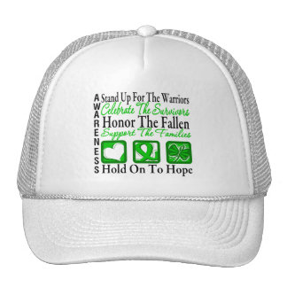 Stand Up Celebrate Honor Collage Kidney Cancer Trucker Hat