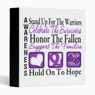 Stand Up Celebrate Honor Collage Leiomyosarcoma 3 Ring Binders