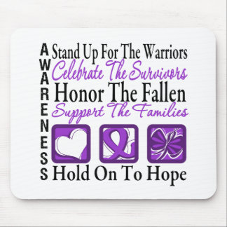 Stand Up Celebrate Honor Collage Leiomyosarcoma Mouse Pad