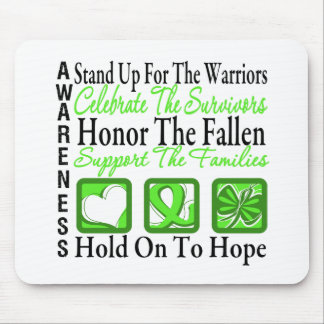 Stand Up Celebrate Honor Collage Lymphoma Mouse Pad