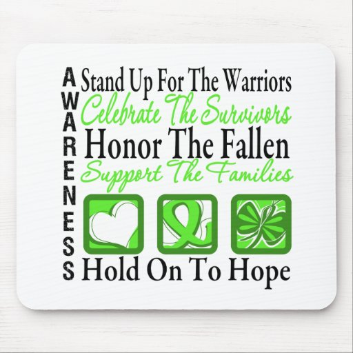 Stand Up Celebrate Honor Collage Lymphoma Mouse Pads