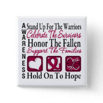 Stand Up Celebrate Honor Collage Multiple Myeloma Button