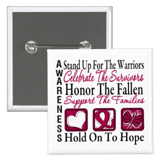 Stand Up Celebrate Honor Collage Multiple Myeloma Pin