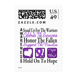 Stand Up Celebrate Honor Collage Pancreatic Cancer Postage