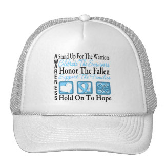 Stand Up Celebrate Honor Collage Prostate Cancer Trucker Hat