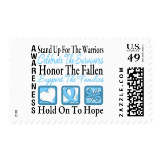 Stand Up Celebrate Honor Collage Prostate Cancer Stamps