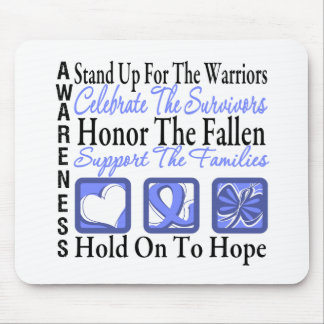 Stand Up Celebrate Honor Collage Stomach Cancer Mouse Pad