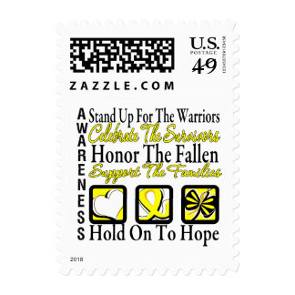 Stand Up Celebrate Honor Collage Testicular Cancer Postage