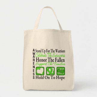 Stand Up Celebrate Honor Non-Hodgkins Lymphoma Grocery Tote Bag