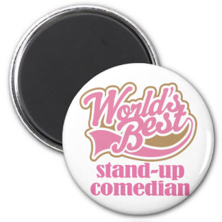 Stand Up Comedian Pink Gift 2 Inch Round Magnet