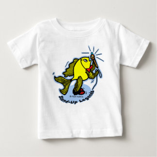 Stand-Up Fish funny cartoon T Shirt