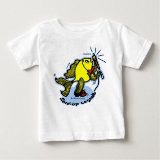 Stand-Up Fish funny cartoon T Shirt