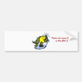 Stand-Up Fish funny comic cartoon Car Bumper Sticker