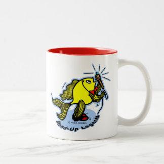 Stand-Up Fish funny comic cartoon Coffee Mugs