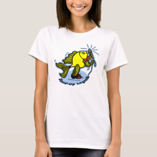 Stand-Up Fish funny comic cartoon T-Shirt