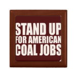 STAND UP FOR AMERICA COAL JOBS JEWELRY BOXES