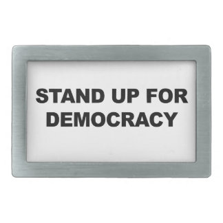 Stand Up for Democracy Belt Buckle