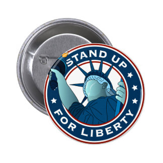 Stand Up For Liberty Pinback Button