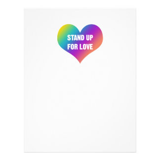 Stand Up for Love (Rainbow Heart) Letterhead