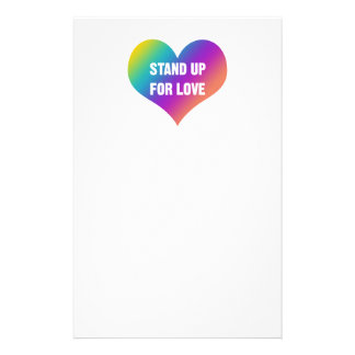 Stand Up for Love (Rainbow Heart) Stationery