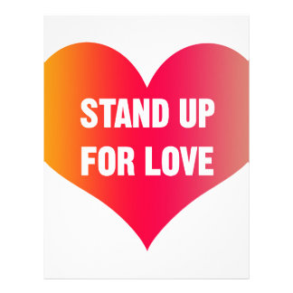 Stand Up for Love (Red-Orange Heart) Letterhead