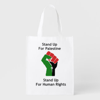 Stand Up for Palestine Reusable Tote Bag Market Totes