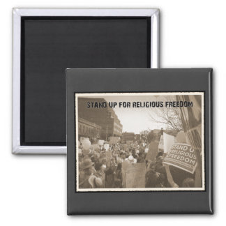 Stand Up For Religious Freedom 2 Inch Square Magnet