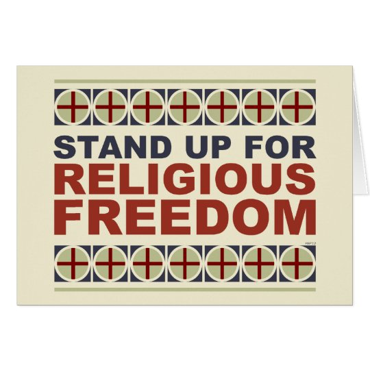Stand Up For Religious Freedom Card