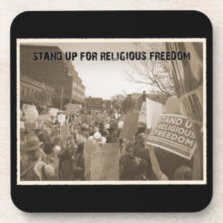 Stand Up For Religious Freedom Drink Coaster