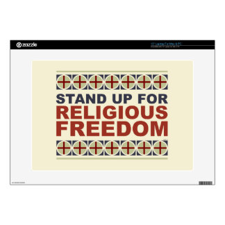 Stand Up For Religious Freedom Laptop Decals
