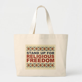 Stand Up For Religious Freedom Large Tote Bag