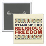 Stand Up For Religious Freedom Pinback Button