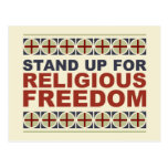 Stand Up For Religious Freedom Postcard