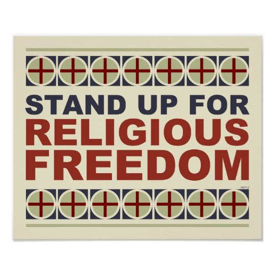 Stand Up For Religious Freedom Poster