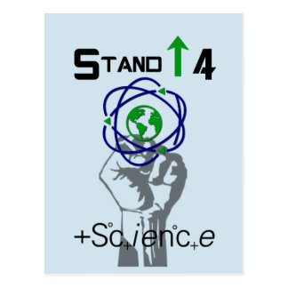 Stand Up For Science March Protest Postcard