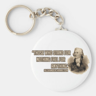 Stand Up for Something Basic Round Button Keychain