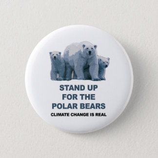 Stand Up for the Polar Bears Pinback Button
