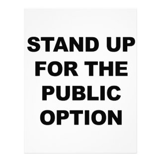 STAND UP FOR THE PUBLIC OPTION LETTERHEAD